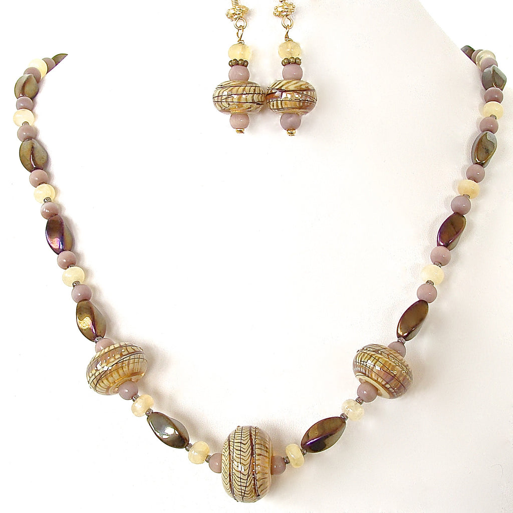 Taupe Necklace