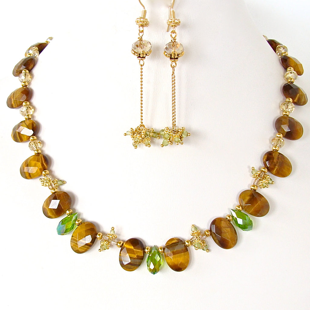 Tigers Eye Necklace Set