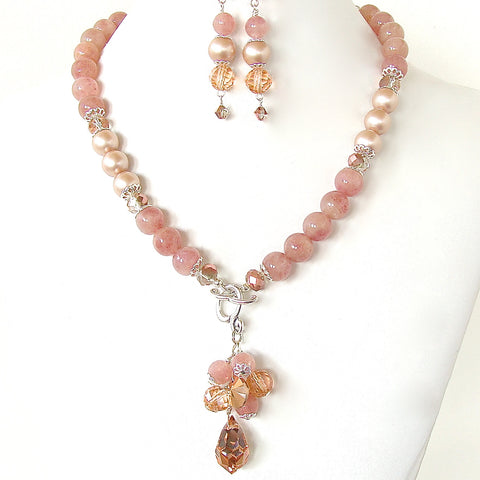 Y Necklace with Rose Gold