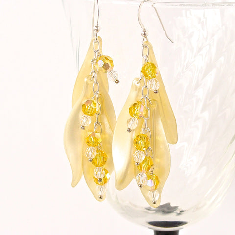 "Buttercup ""Whimsicals"": Yellow Crystal Earrings"