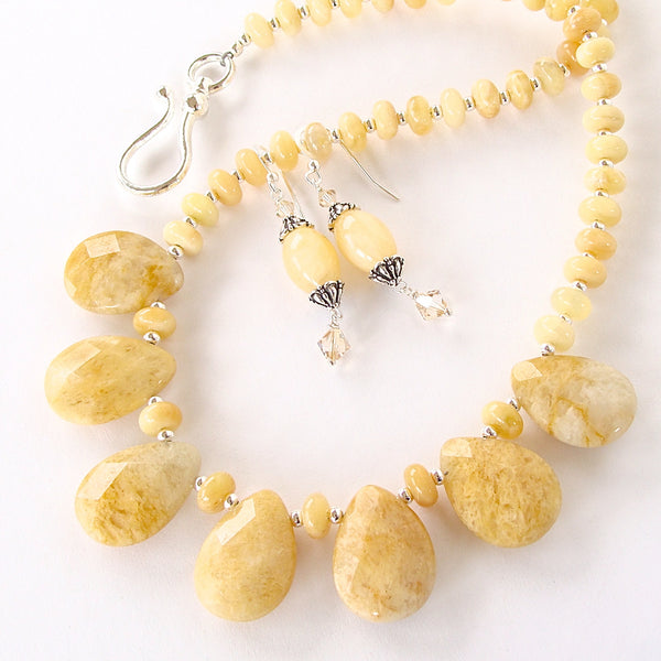 Yellow Statement Necklace Set
