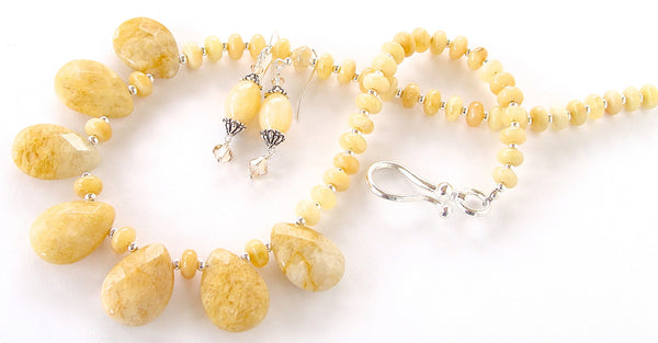 Yellow Stone Necklace Set