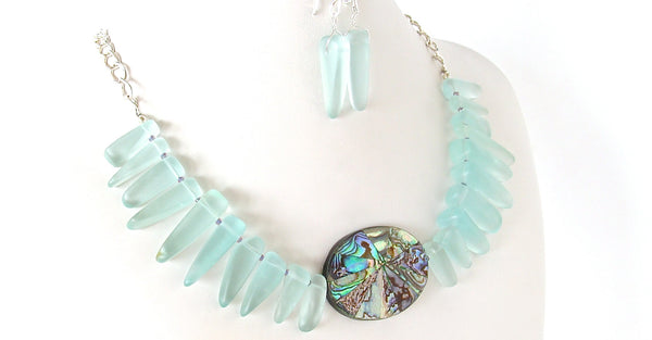 abalone statement necklace