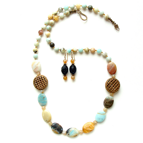 amazonite necklace set