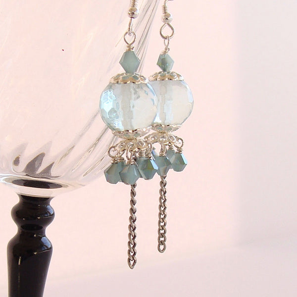 aqua quartz earrings