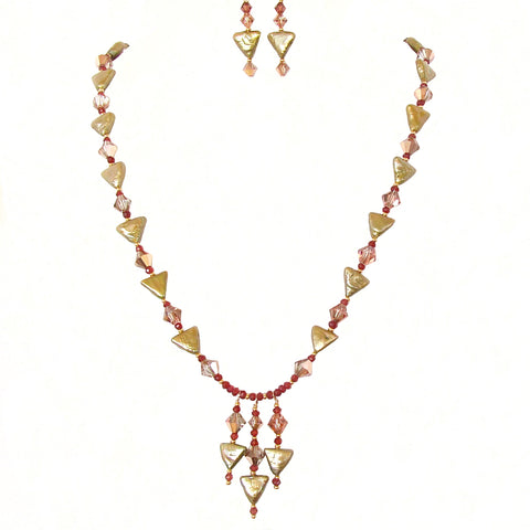 art deco style necklace set