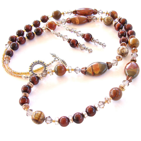 autumn jewelry with jasper gemstones