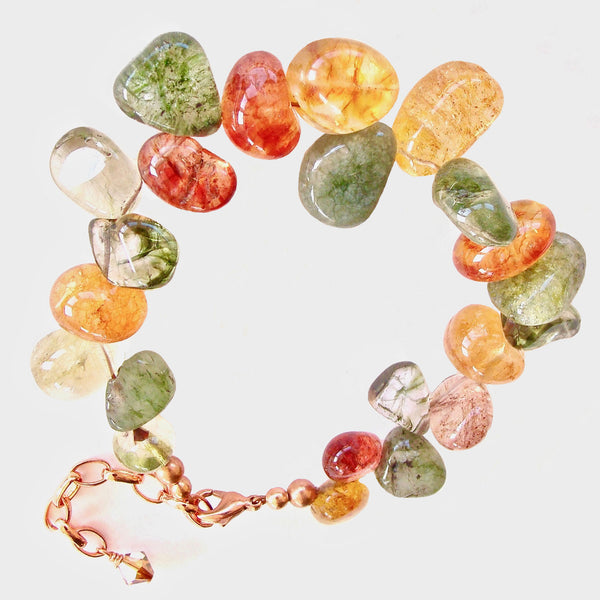 Bountiful: Gemstone Bracelet in Earth Tones