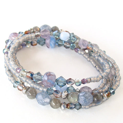blue and purple bracelet