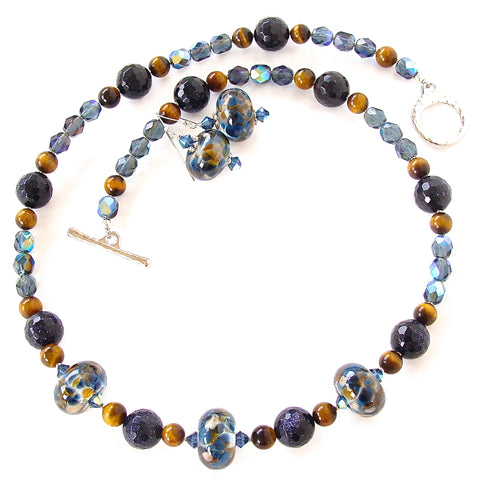 blue stone necklace