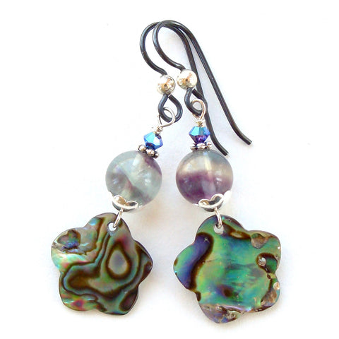 dangle earring with abalone