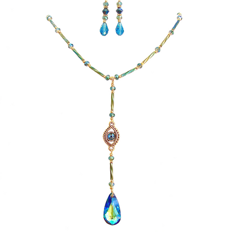 evil eye pendant necklace set