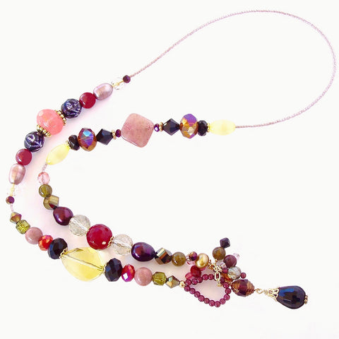 gemstone lariat necklace