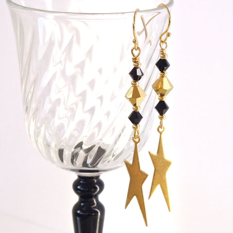 gold star earrings