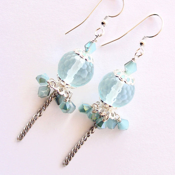 ice blue earrings