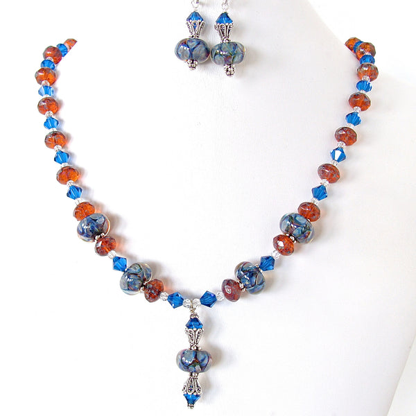 Lampwork glass necklace