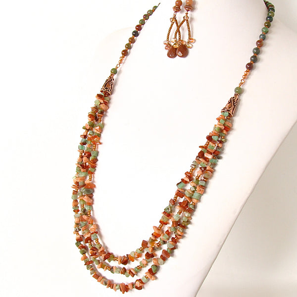 long gemstone necklace