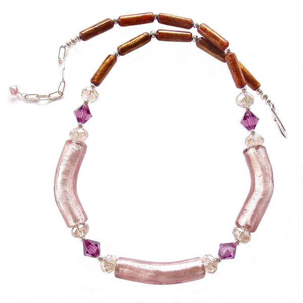 mauve necklace