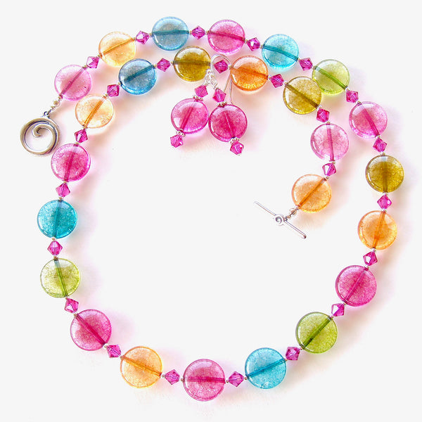 multi color necklace set