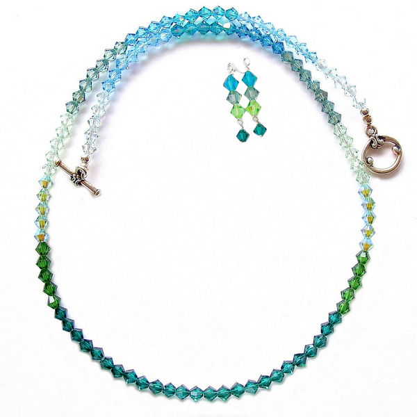 ombre crystal necklace
