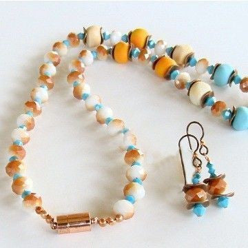 "Afire: 19"" Southwest Beaded Necklace Set"