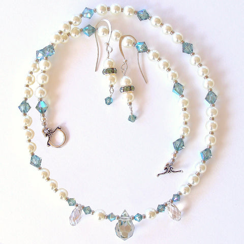pearl princess necklace set