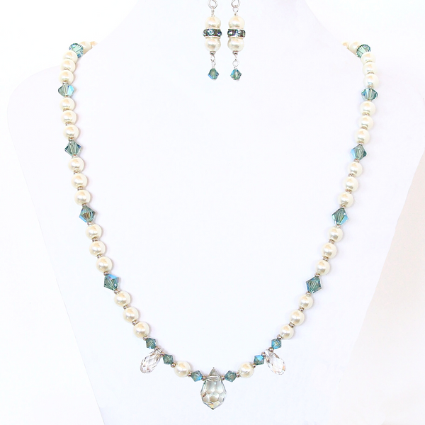 princess necklace with Swarovski crystals