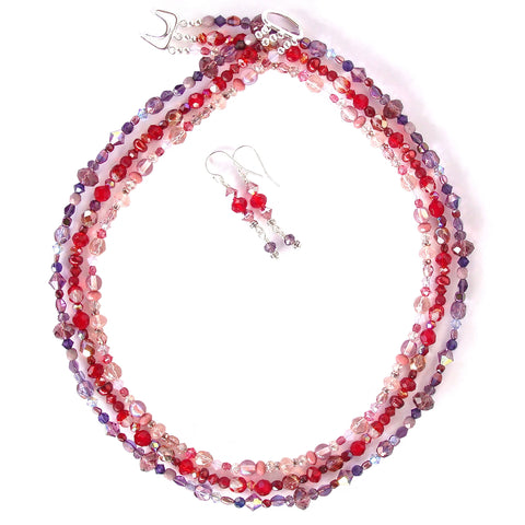 red and purple necklace