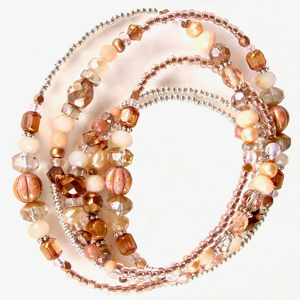 rose gold beaded bracelet