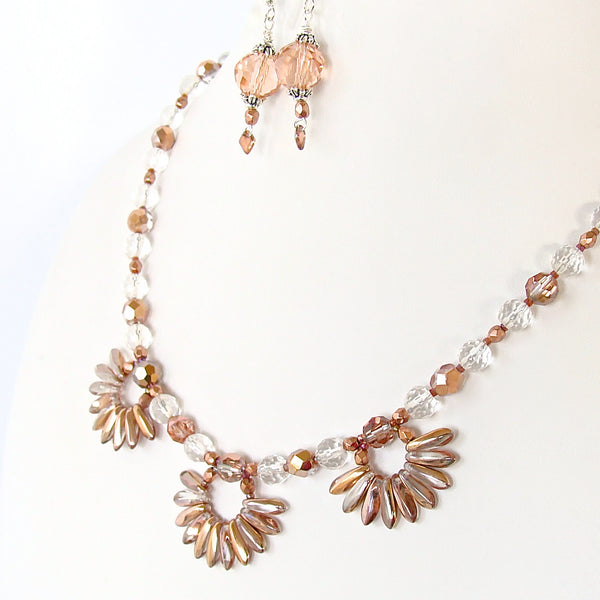 rose gold lotus necklace
