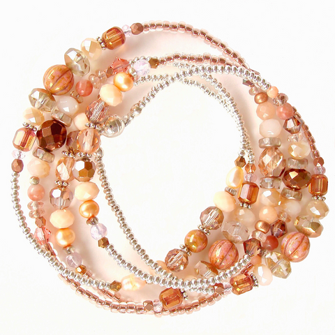 rose gold wrap bracelet