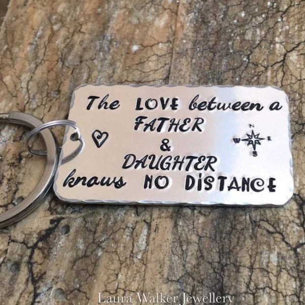 Long Distance Keychain Father