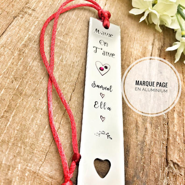 Marque Page Personnalisé, 'Mamie On T'aime'