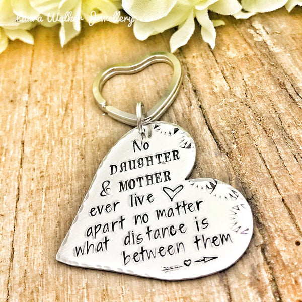 ❤️ Long Distance Keychain Mother, Long Distant Gift Mom, Mother's Day Gift ❤️