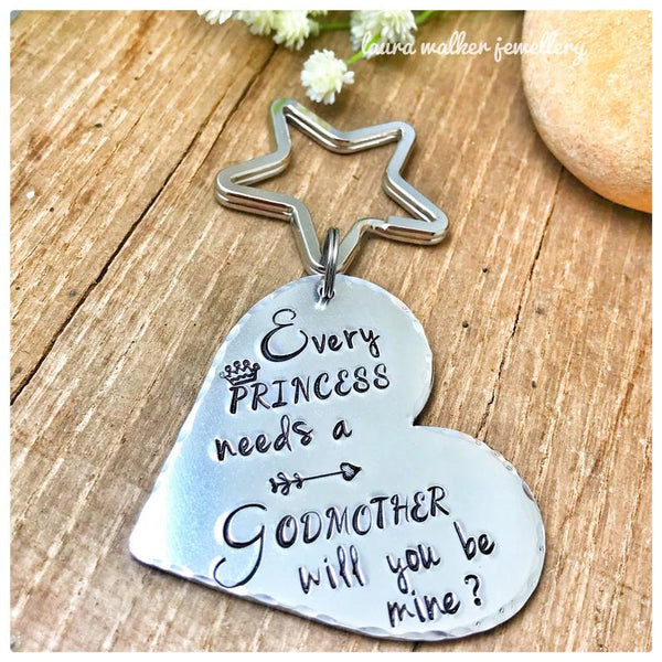 Godmother Request Keychain. 'Princess Godmother Keychain'
