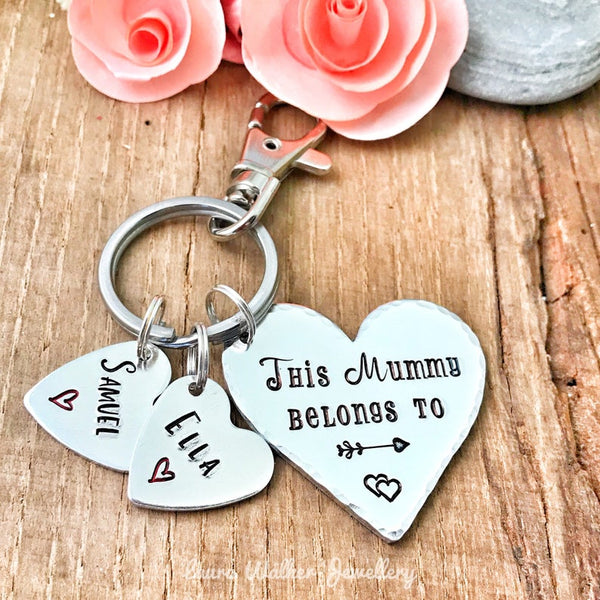This Mum, Mom, Mummy Belongs to Keychain