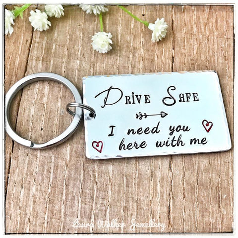 Drive Safe Keyring Keychain, New Driver Keychain, Present Passing Driving Test