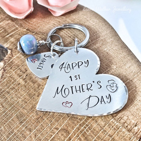 First Mother's Day Keychain