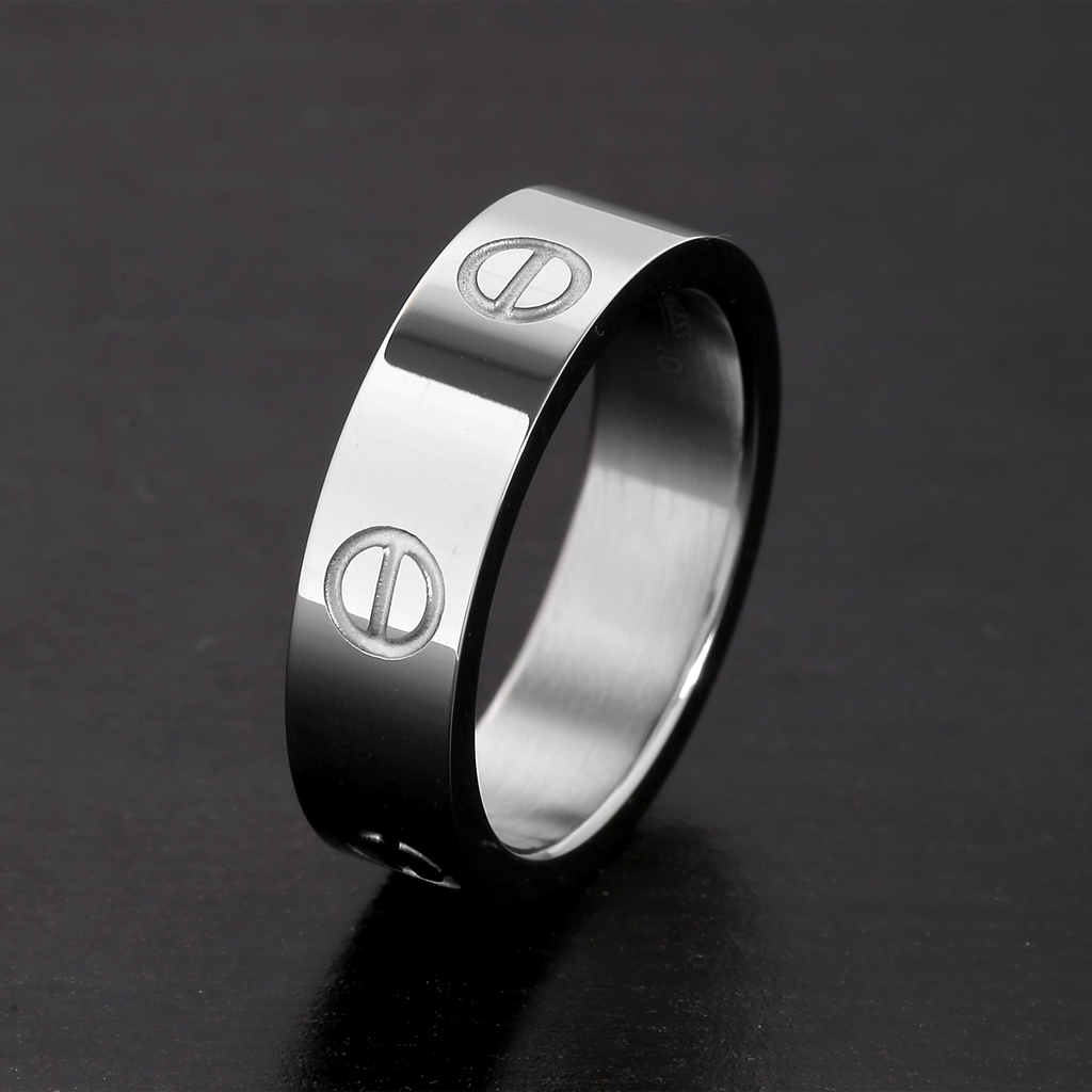 Switch up Your Style with a Titanium Steel Love Ring