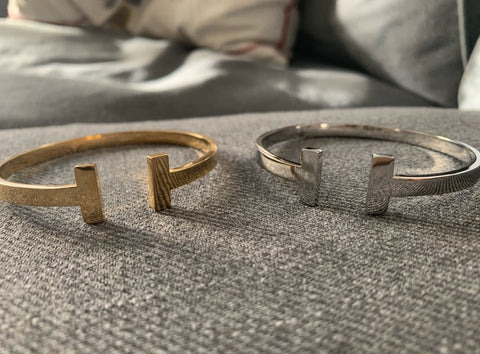 Designer Inspired T Open Cuff Love Bracelet Bangle Tiffany Hermes Style Luxury Brand Unisex Womens Mens Gift Gold Silver