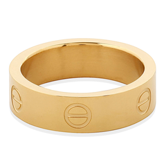 Gold Steel Love Ring