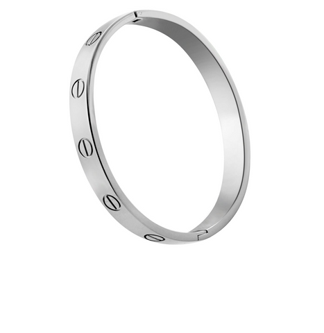 Designer-Inspired-Titanium-Steel-Love-Bracelet-Screw-Bangle-Cartier-Style-Womens-Girls-Christmas-Birthday-Valentines-Gift-Silver