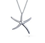 Starfish Pendant Necklace Sterling Silver 925