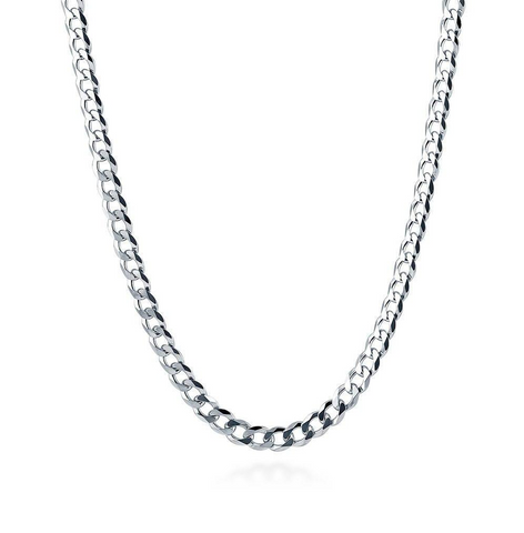 2mm Curb Chain Necklace Sterling Silver 925