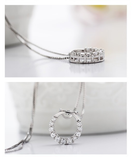 Silver Diamond Open Ring Pendant