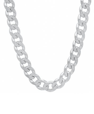 "8mm Thick Curb Necklace Chain 18"" to 24"" Sterling Silver 925"