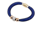 Designer Inspired Stardust Infinity Bracelet Bangle with Steel Magnetic Clasp - Designer Inspired Co - Blue - 4