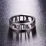 Hollow Roman Numeral Love Ring Tiffany Co Designer Inspired Luxury Brand Style Mens Womens Unisex Atlas Jewellery Copy Replica Dupe Silver