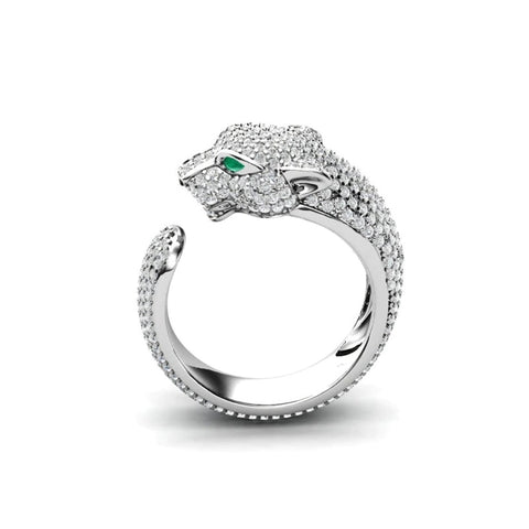 Crystal Panther Ring