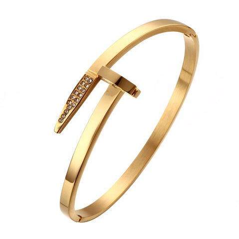 Designer-Inspired-Arrow-Nail-Bracelet-Bangle-Womens-Girls-Unisex-Mens-Swarovski-Crystal-Luxury-Brand-Cartier-just-en-clou-style-outlet-sale-silver-gold-rose-gold-black
